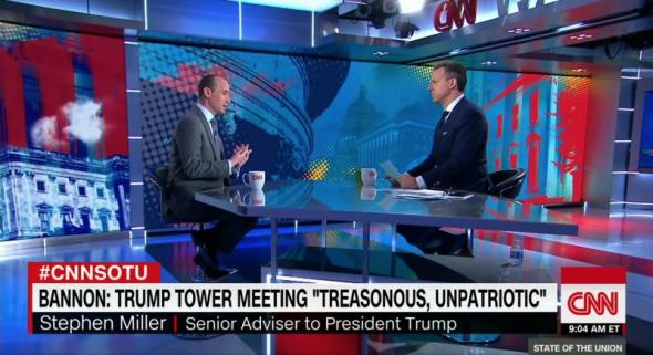 Screenshot  YouTubeWhite House adviser Stephen Miller speaking with CNN host Jake Tapper