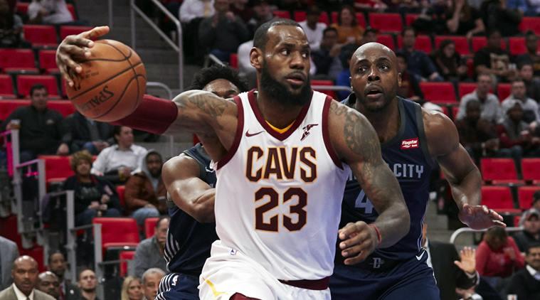 Cleveland Cavaliers forward Le Bron James against Detroit Pistons