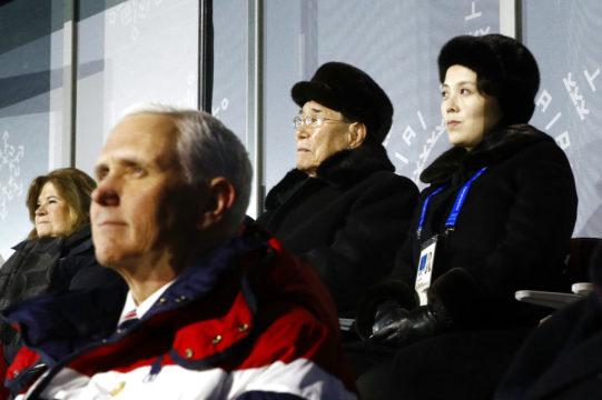 Kim Yong Nam Kim Yo Jong Mike Pence