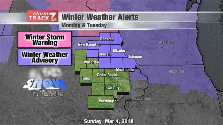 Winter Weather Advisory Monday