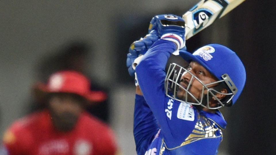 Mumbai Indians' Krunal Pandya scored an unbeaten 12-ball 31 to keep his team alive in IPL 2018