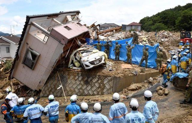Severe rainfall leaves dozens dead in Japan