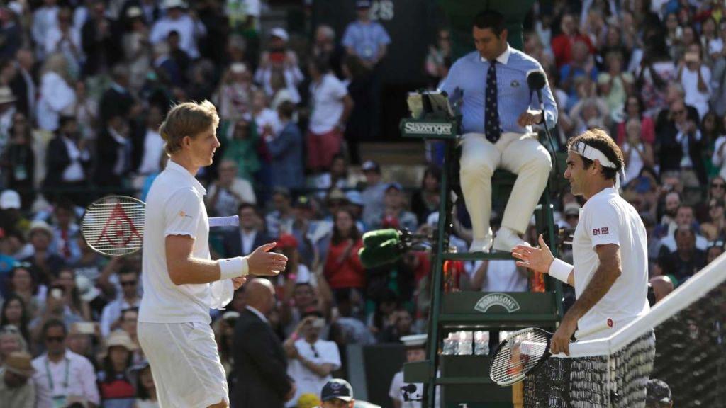 Kevin Anderson beats Federer