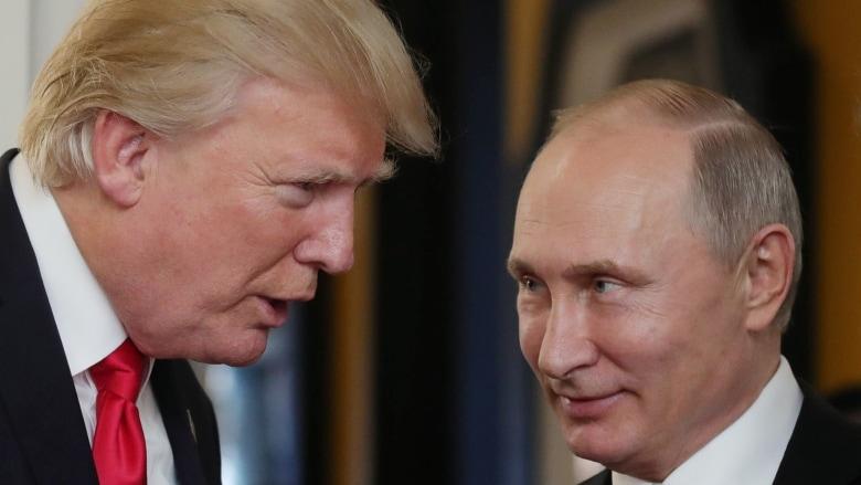 Trump plays golf in Scotland ahead of Putin summit amid Russian meddling claims
