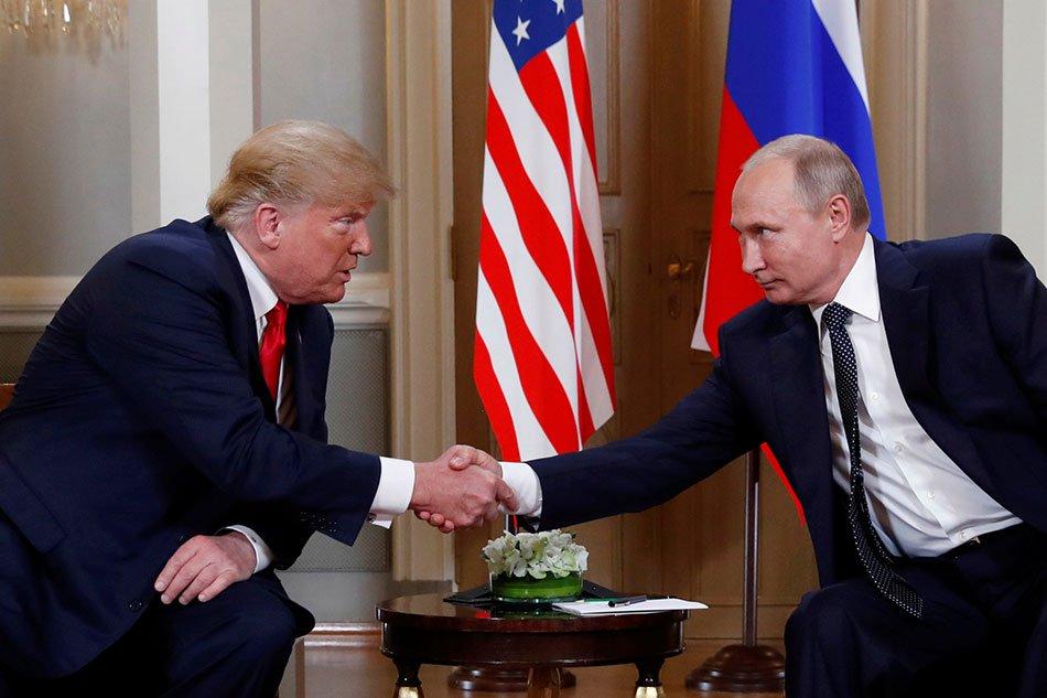 U.S. President Donald Trump meets with Russian President Vladimir Putin in Helsinki Finland