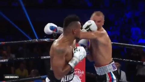 Eleider Alvarez knockdown