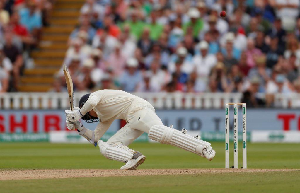 England's Sam Curran avoids a bouncer from India's Ishant Sharma
