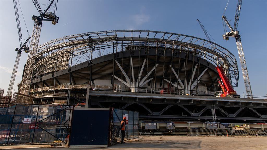 Under construction Spur's new stadium