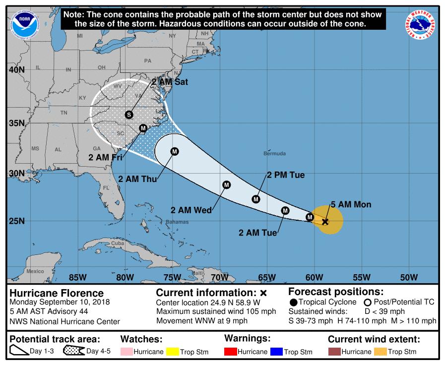 US braces for 'major' hurricane Florence