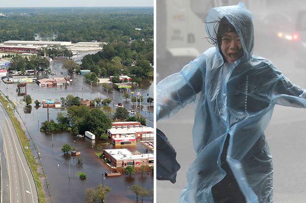 Hurricane Florence Typhoon Mangkut