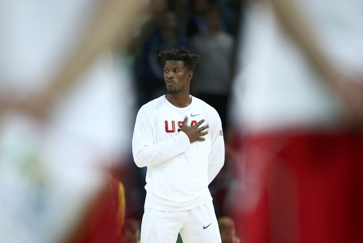 2016 Rio Olympics- Basketball- Preliminary- Men's Preliminary Round Group A USA v Serbia- Carioca Arena 1- Rio de Janeiro Brazil- 12