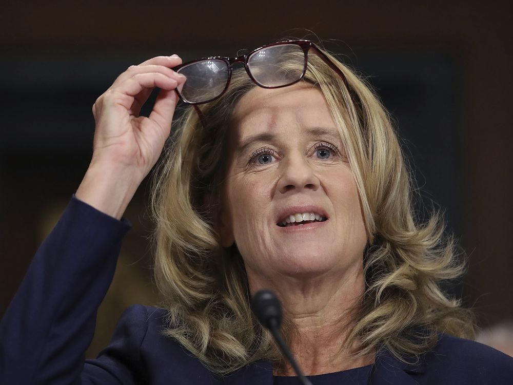 "Christine Blasey Ford testifies before the U.S> Senate Judiciary Committee Thursday Sept. 27 2018 in Washington.<br /> Win Mc Namee<br /> AP"" title=""Christine Blasey Ford testifies before the U.S> Senate Judiciary Committee Thursday Sept. 27 2018 in Washington.<br /> Win Mc Namee<br /> AP""/></p> </p><div class="