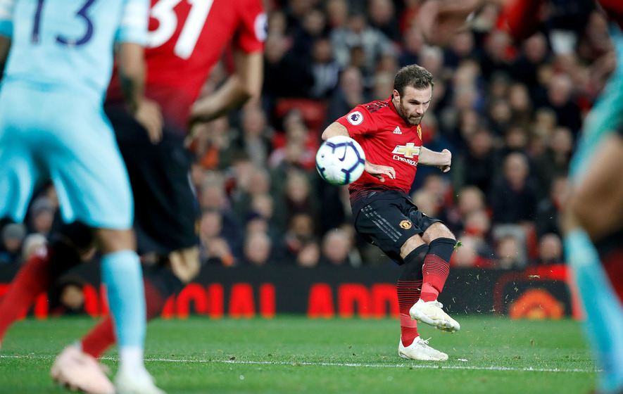 Juan Mata scores to kick off the comeback against Newcastle United on Saturday