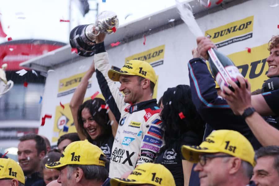 Colin Turkington celebrates his British title success
